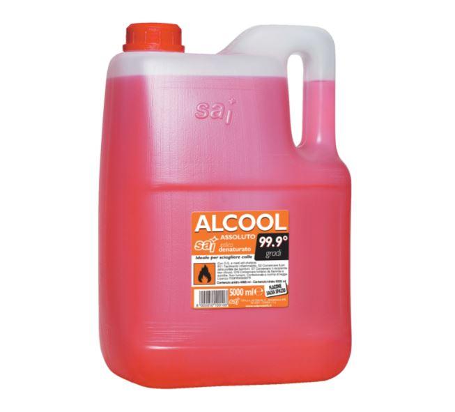 ALCOOL ETIL DENATURATO 90° 5 LT.