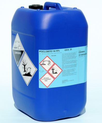 Ipoclorito di sodio 15%_tanica 25 kg