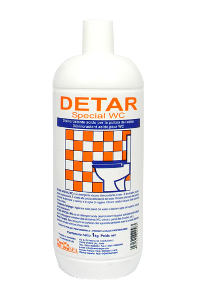 DETAR SPECIAL WC _Detergente disincrostante viscoso per coppa WC_Flacone 1 Kg.