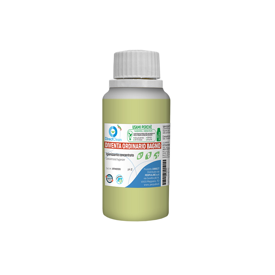 DIVENTA ORDINARIO BAGNO (solo ricarica 100ml) Anticalcare igienizzante profumato da diluire in flacone da 750ml