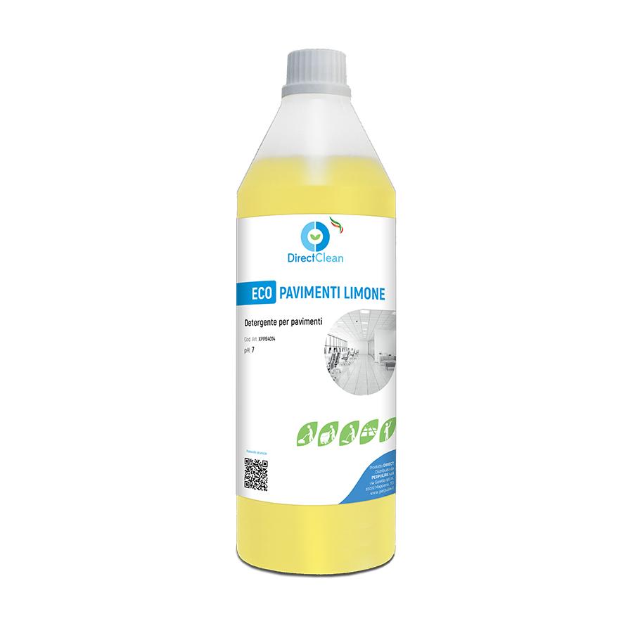 ECOPAVIMENTI LIMONE Detergente per la pulizia quotidiana di tutti i tipi di pavimento prof. Limone_Flacone da 1 Litro