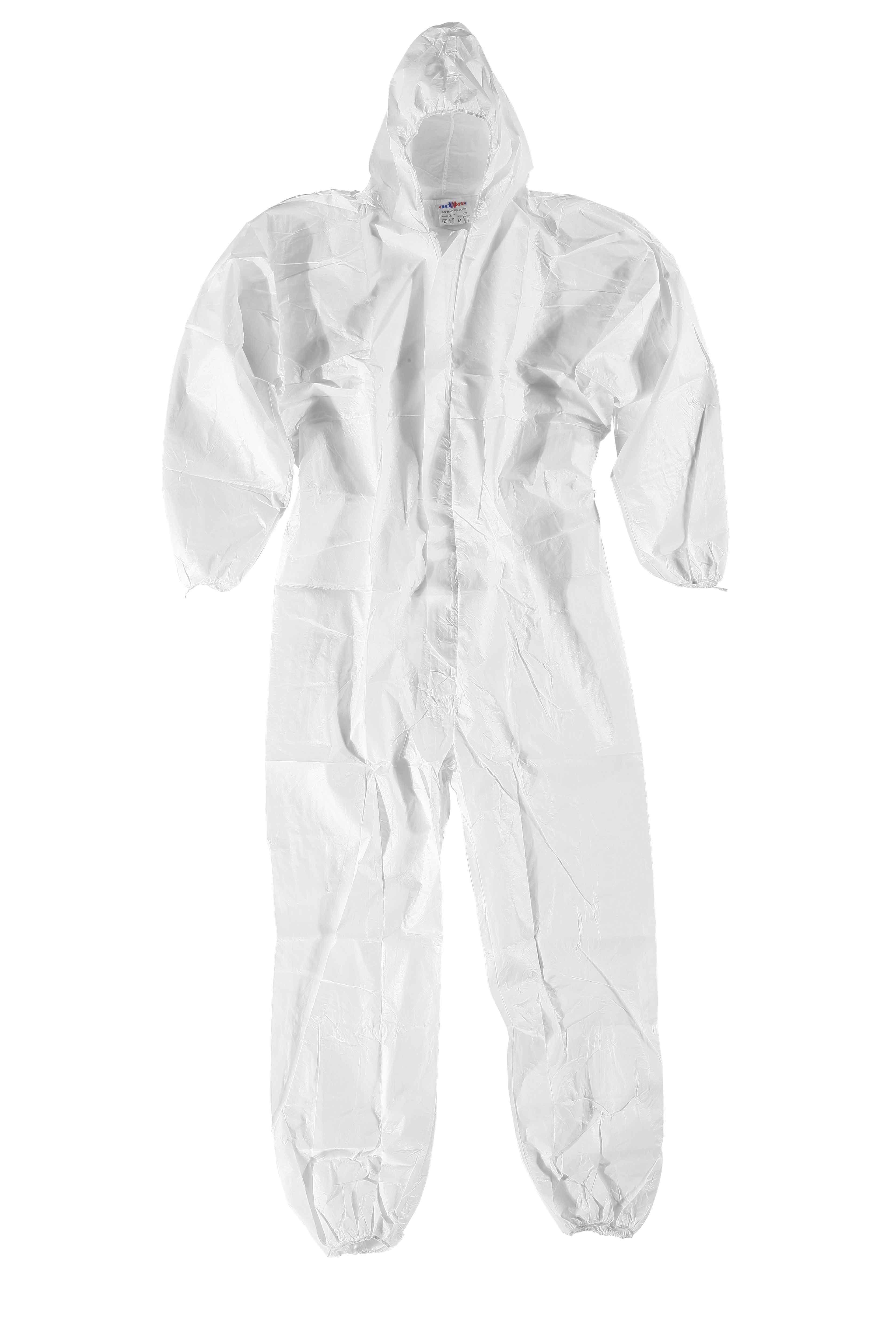 TUTA 3M 4500 Bianco uso generico protezione da liquidi e polveri non pericolose in PP 45g/mq _ TG L