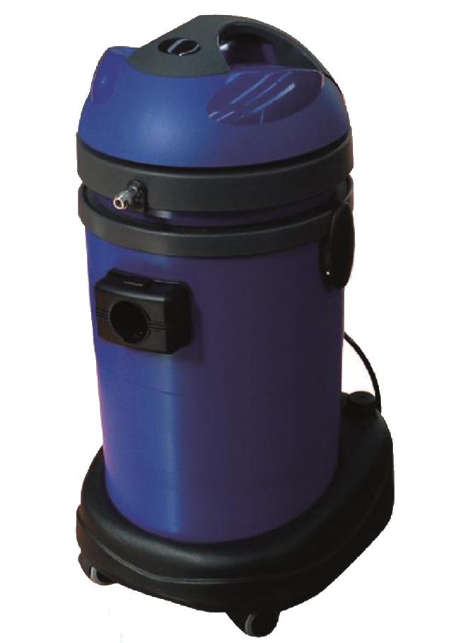 E36/8P Estrattore 1 motore. Fusto 36lt, carrello/serbatoio detergente da 8 lt. EWPVI125PEP