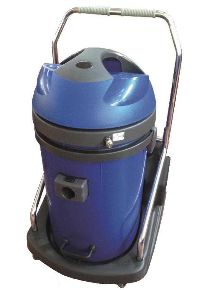 E76/20P  Estrattore 2 motori. Fusto basculante 76 litri, serbatorio detergente da 20 litri. EWPV250PEP