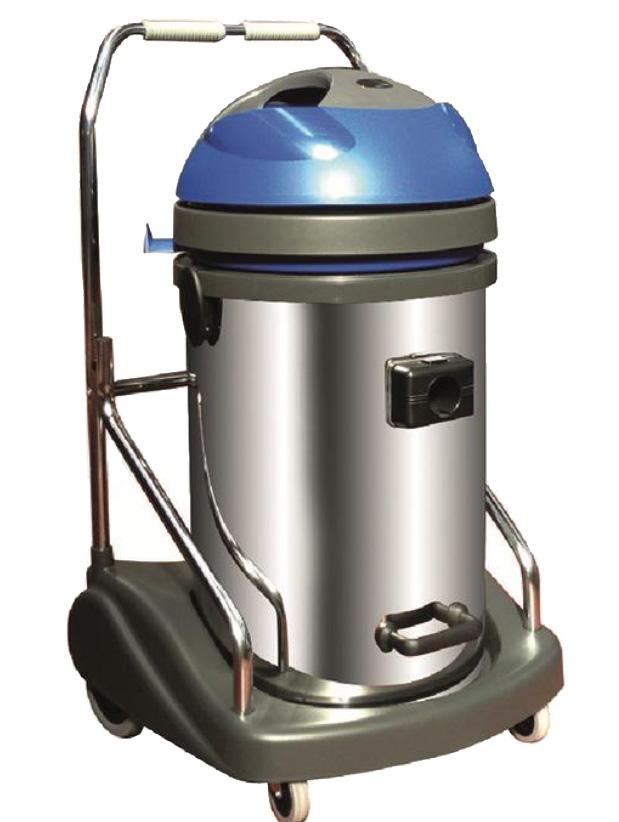 PL76 INOX Aspirapolvere&Liquidi Carrellato, 3 mot.bistadio 2250W con fusto da 76 lt VEWI330PEP
