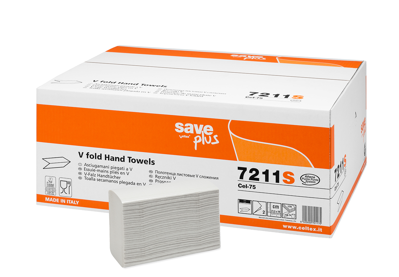 ASCIUGAMANI PIEGATO V SAVE CM 21,5x18 3150PZ