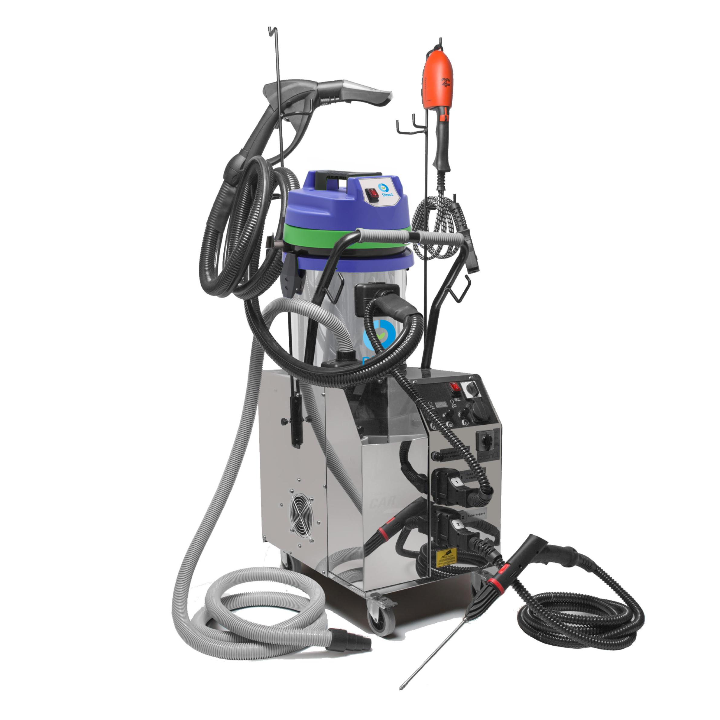 Macchinario Multifunzione mod. CLEAN 360 FULL 230v con gen.di vapore, aspiraliquidi 1400W e ozonizzatore