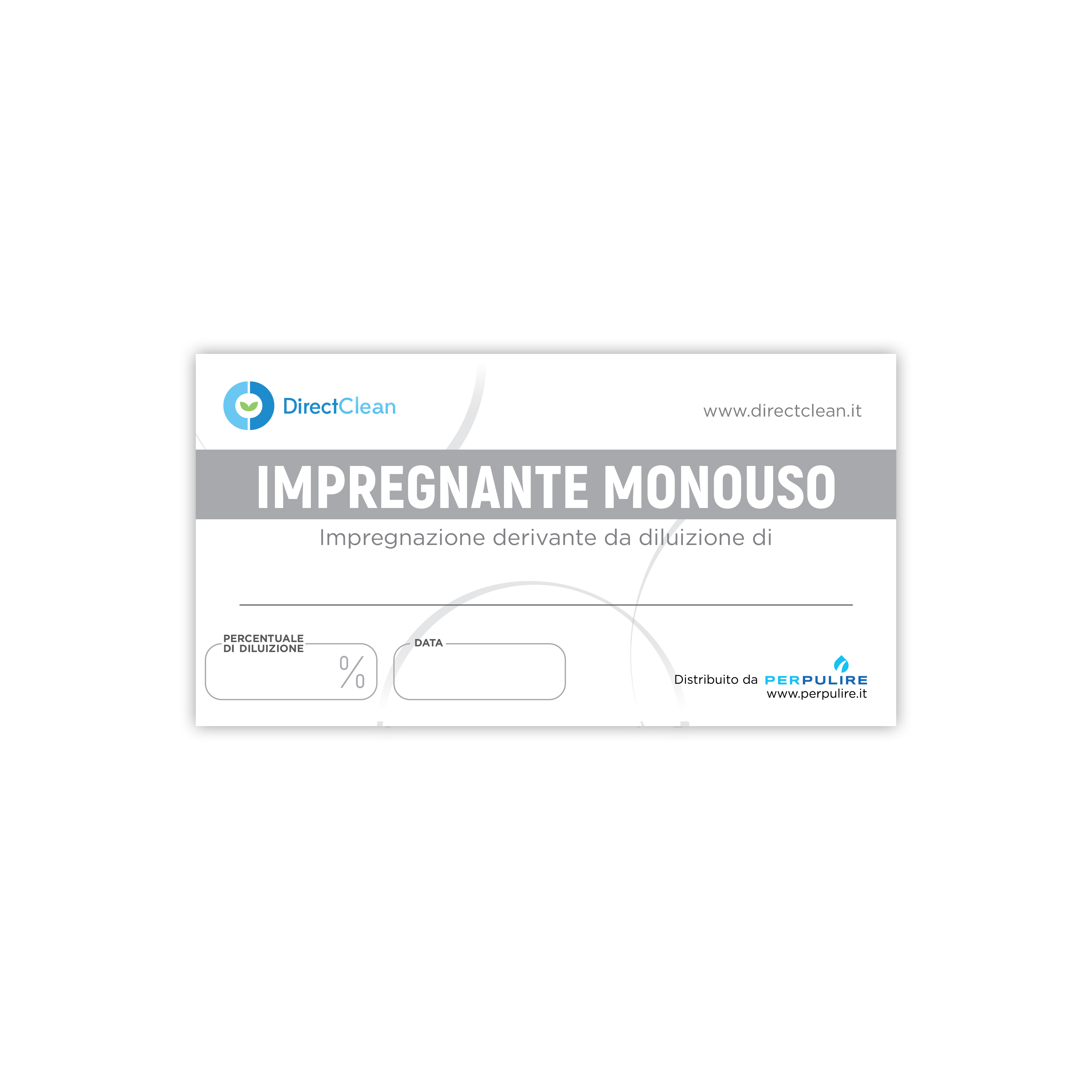 ETICHETTA IMPREGNANTE MONOUSO BIANCA DIRECT CLEAN 10X5 CM