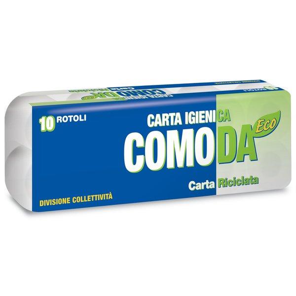 CARTA IGIENICA COMODA  ECO 2veli, 155 strappi, Conf.  10  x 12 Totale 120 rotolini