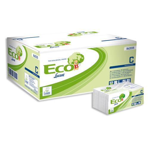 ASCIUGAMANI PIEGATI A C Eco Lucart C' 1Velo_cm.22,5x33_ Conf. 192x20_Totale 3840 pz.