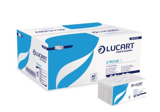 ASCIUGAMANI PIEGATI A C Strong Lucart C 1 Velo_cm.22,5x33_Conf. 192 pezzi__Conf. Pz.20 Totale 3840 pz.