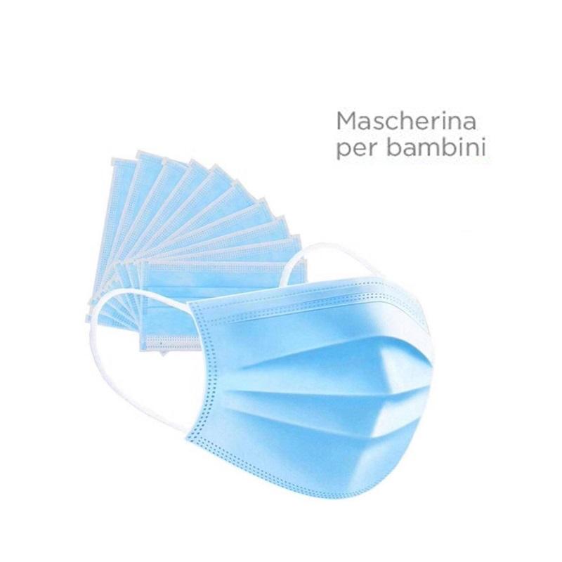 MASCHERINA CHIRURGICA PER BAMBINI 3 VELI CE - 50 PZ