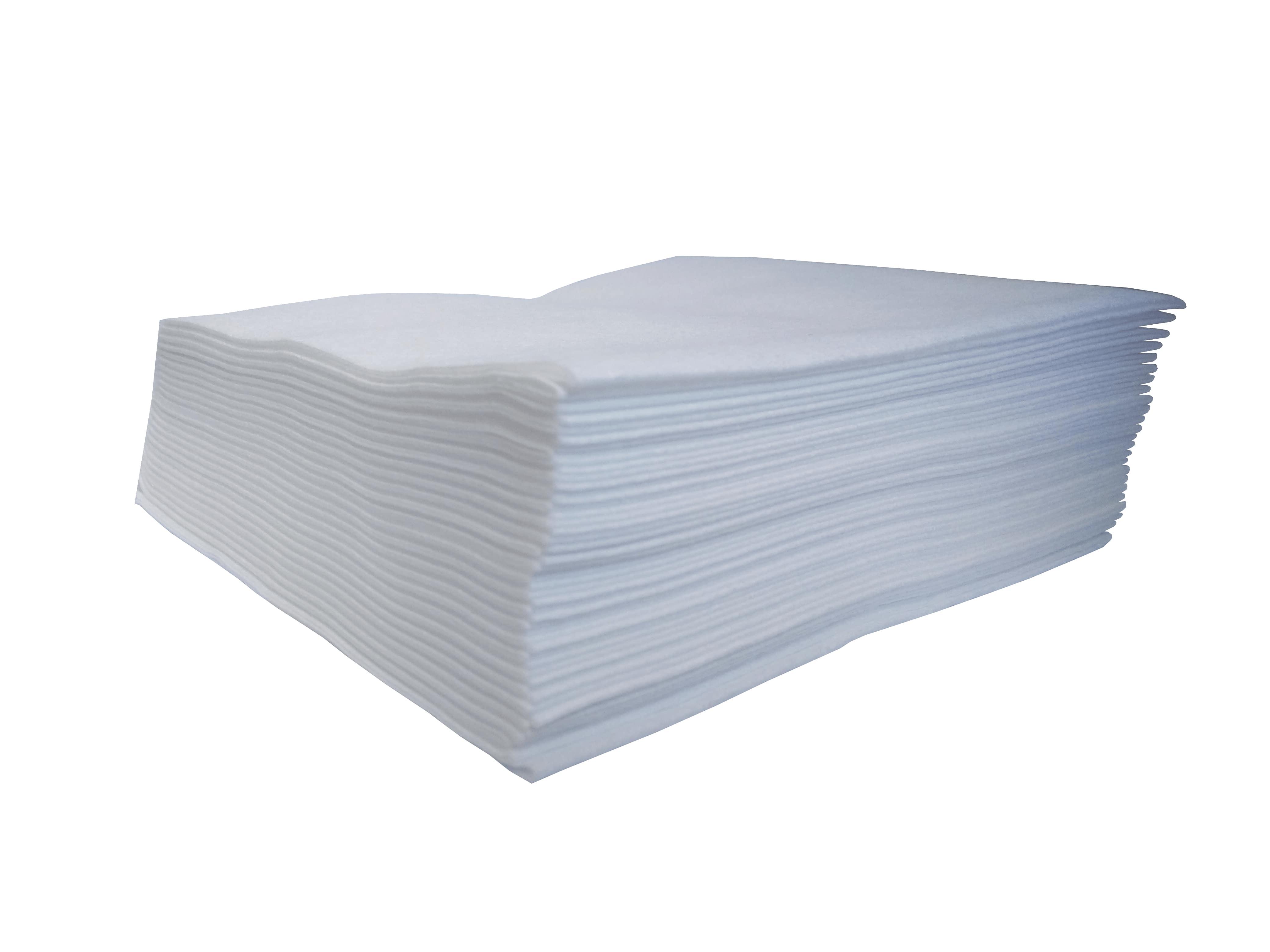 PANNO MORBIDO TNT BIANCO LISCIO - PRETAGLIATO DIM. 30X40 CM - PIEGATO 1/4_ CT 1.000 pz (20 CF da 50 panni)