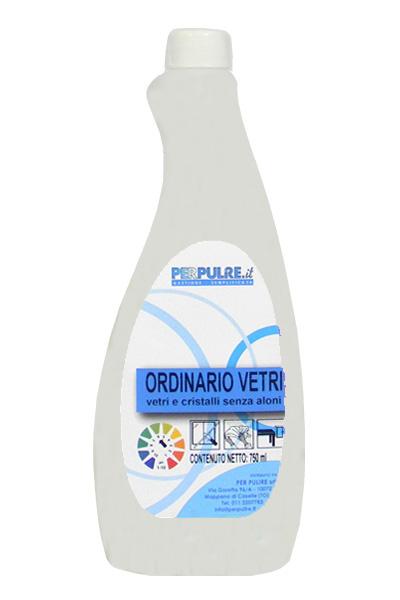 Flacone VUOTO 750ml + tappo + etichetta F.+ R. ORDINARIO VETRI