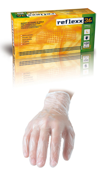 GUANTO REFLEXX36 VINILE S/POLV. conf. 100pz mis. L