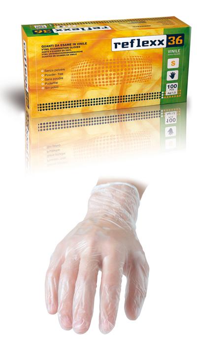 GUANTO REFLEXX36 VINILE S/POLV. conf. 100pz mis. XL
