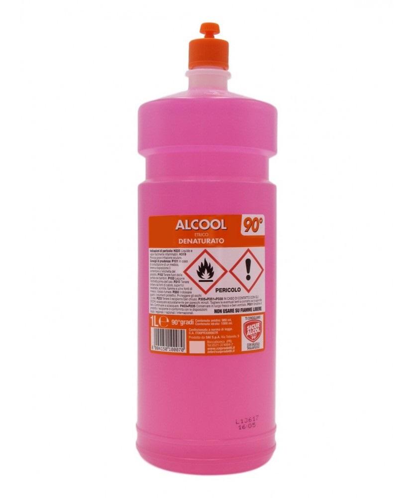 ALCOOL ETIL DENATURATO 90° 1 LT.