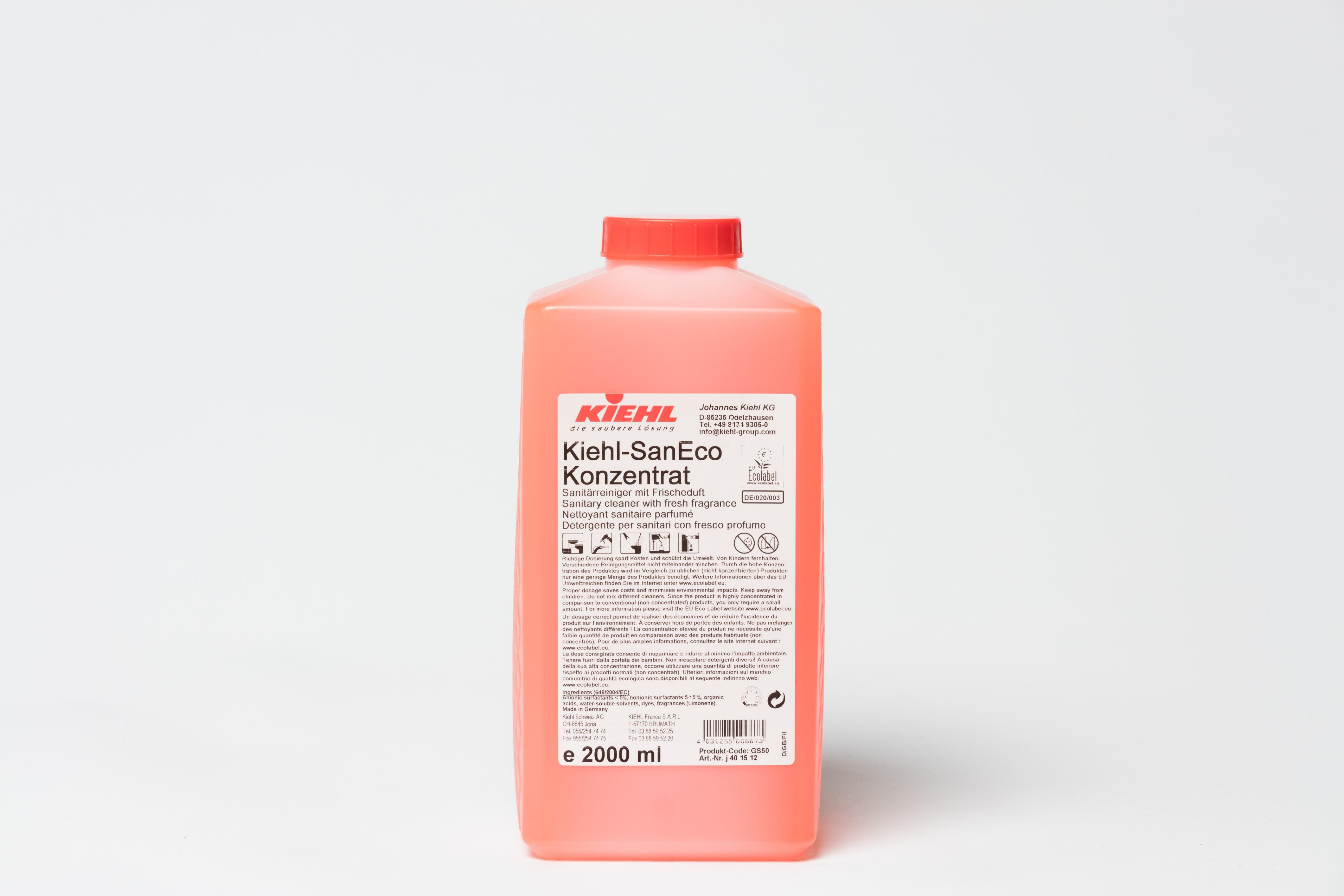 Kiehl-SanEco Concentrato Detergente per sanitari con fresco profumo_Flacone 2 lt