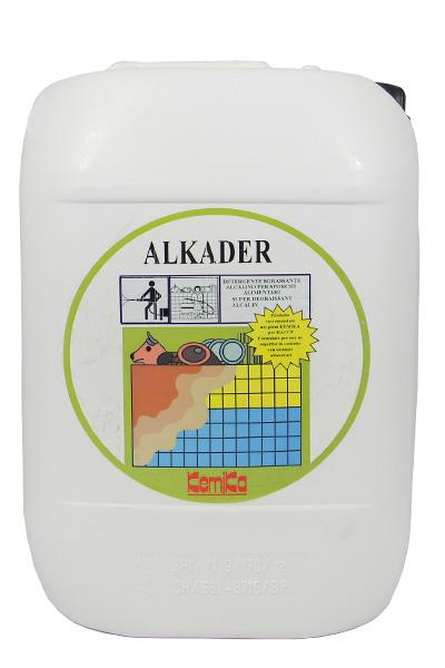 ALKADER_Detergente sgrassante mediamente alcalino per sporchi alimentari_Tanica 10 Kg.
