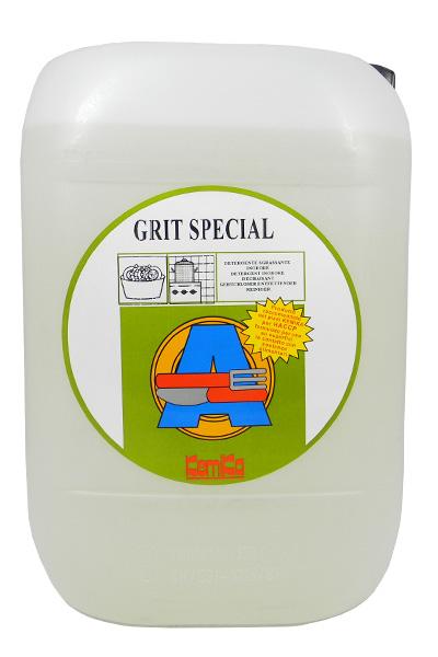 GRIT SPECIAL INODORE_Detergente inodore per preammollo delle stoviglie e per il lavaggio di superfici nelle cucine_Tanica 10 Kg.