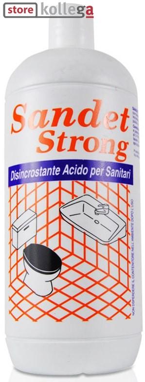 SANDET STRONG_Detergente disincrostante per sanitari (acque calcaree)_Flacone 1 Kg.