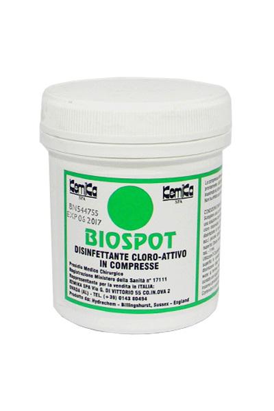 BIOSPOT_Disinfettante cloroattivo in compresse - Reg. M.S. n° 17111_Barattolo da 200 compresse da 3,25 gr.