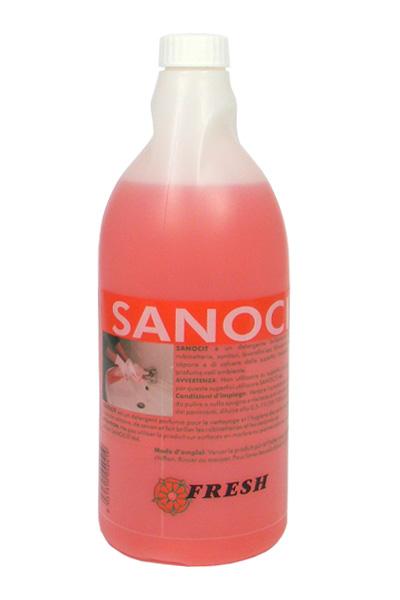 SANOCIT FRESH_Detergente anticalcareo sanificante per bagni_Flacone 750 ml