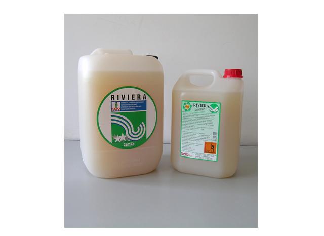 RIVIERA SUPER C_ Detergente superconcentrato  lavalucido per pavimenti (5  volte concentrato)_Flacone  dosatore 1 Kg.