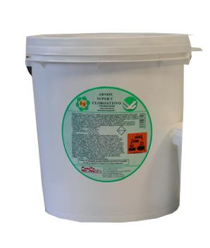 ARNOX SUPER C POLVERE CLOROATTIVO_Detergente superconcentrato cloroattivo fortemente alcalino per industria alimentare_10 kg