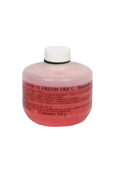 SANOCIT 3C BOMBOLINO FRESH_Detergente anticalcare sanificante superconcentrato per bagni _crt. x 20 pz x 230 ml