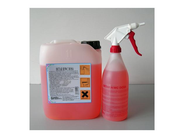 DETAR H/WC DOSA_Detergente disincrostante superconcentrato  per sanitari (erogazione a schiuma) _Tanica 5 Lt.