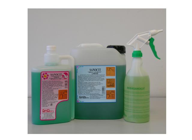 SANOCIT DOSASANOCIT FRESH_Detergente anticalcare sanificante per bagni superconcentrato da diluire con il sistema Dosa_Tanica 5