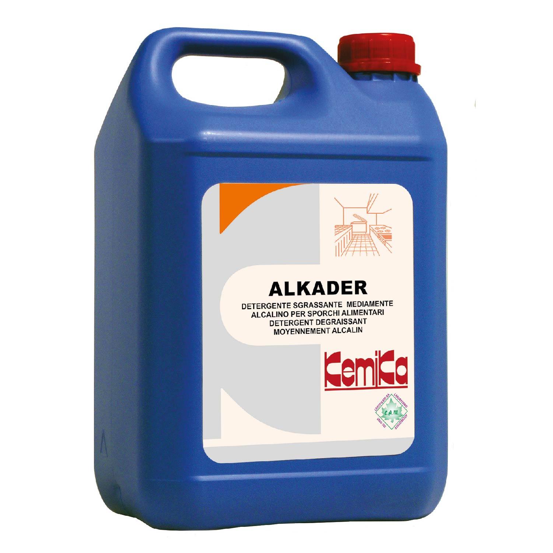 ALKADER_Detergente  sgrassante mediamente  alcalino per sporchi  alimentari_Tanica 5 Kg.