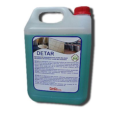 DETAR_Detergente  disincrostante acido multiuso  a base di acidi tamponati_ Tanica 5 Kg (Cartone da 2 pz. )