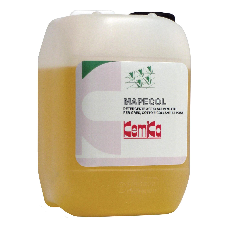 MAPECOL_Detergente acido  solventato collanti di posa e  macchie pittura-Lavaggio a  fondo dei gres_Tanica 5 Kg ( Cartone da 2 p