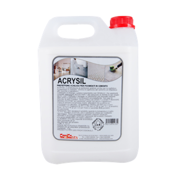 ACRYSIL Protettore acrilico  in base acquosa per  pavimenti in cemento -  Tanica da 5kg