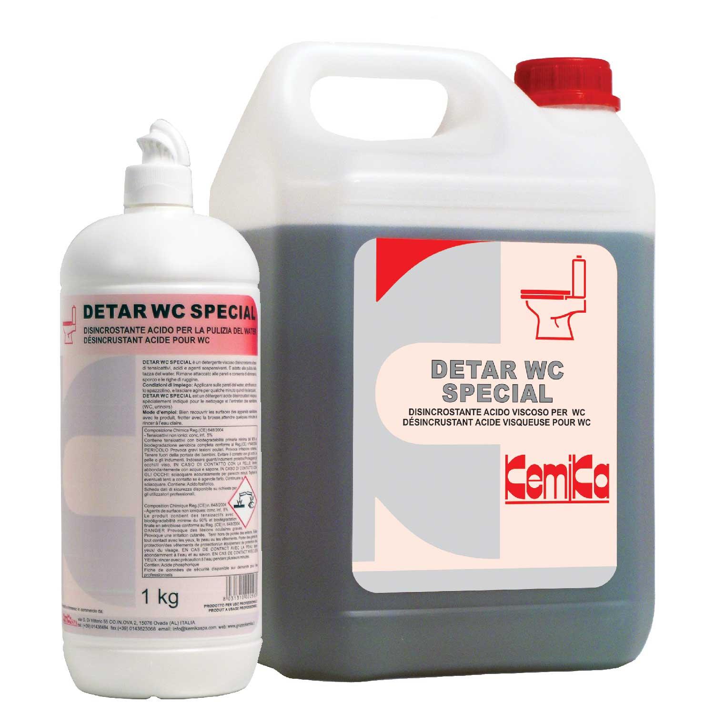 DETAR SPECIAL WC _Detergente disincrostante viscoso per coppa WC_Tanica 5Kg