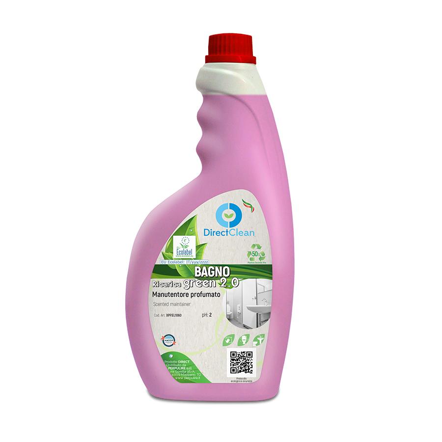 BAGNO GREEN 2.0 PULITORE ACIDO ECOLOGICO ECOLABEL 750ML FLACONE