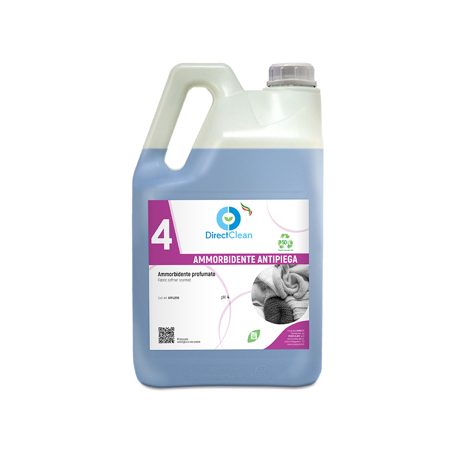 AMMORBIDENTE ANTIPIEGA Ammorbidente profumato antipiega_Tanica 5 kg (Cartone da 4 pz.)