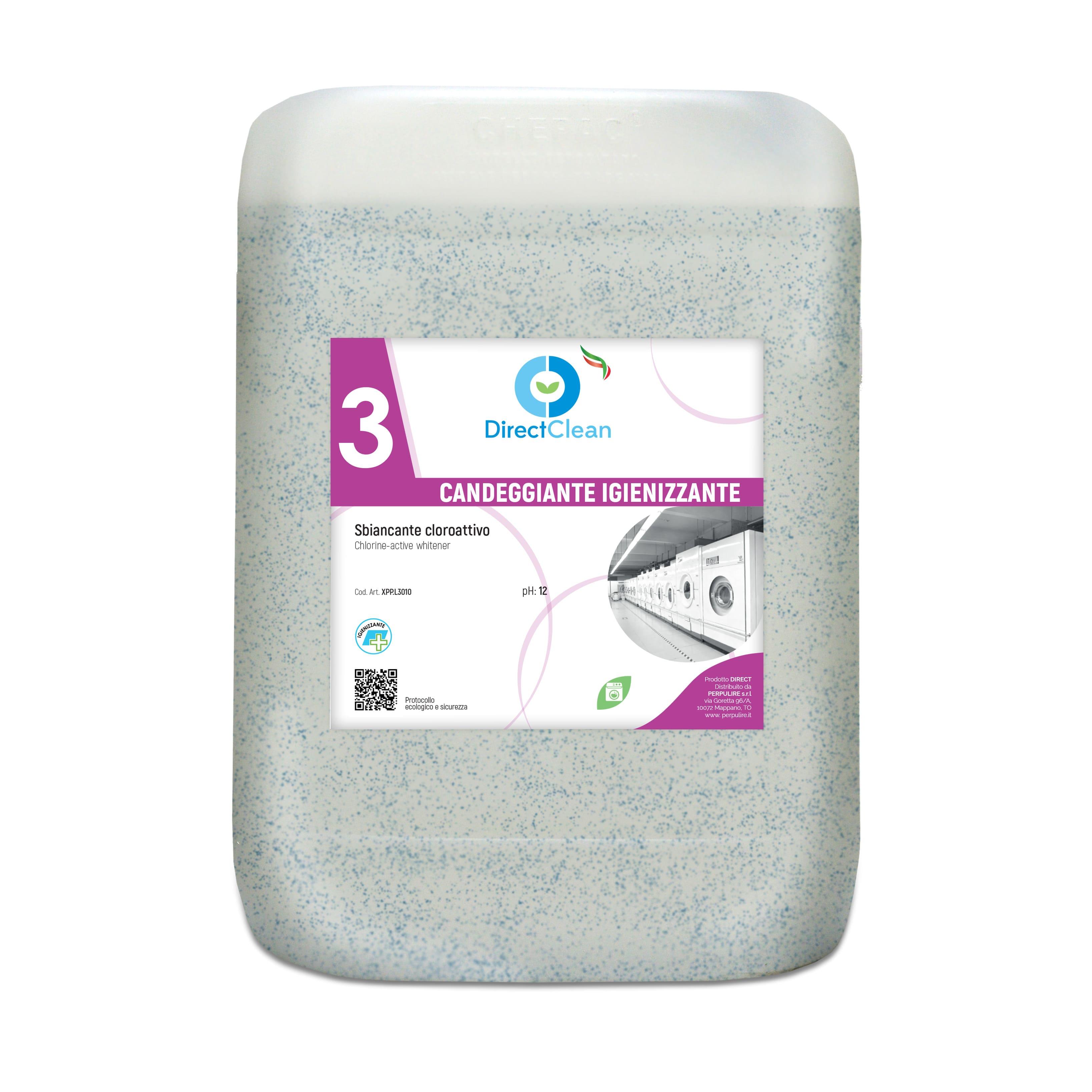 CANDEGGIANTE Sanitizzante liquido base cloro_Tanica 12kg