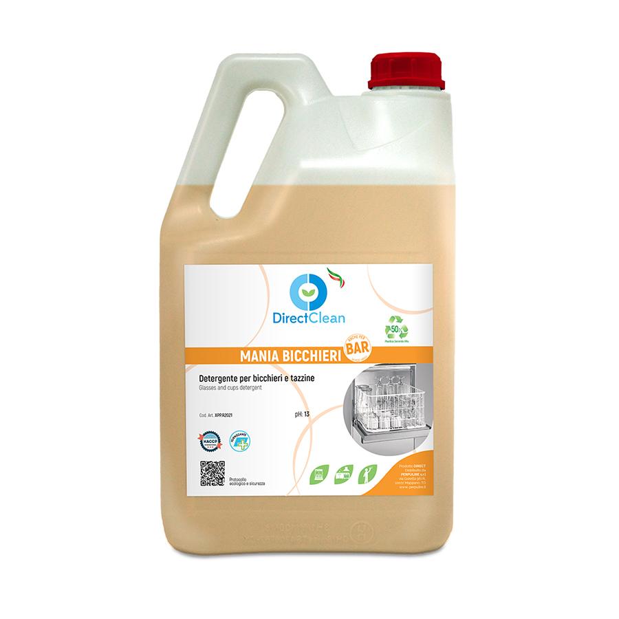 MANIA BICCHIERI BAR Detergente specifico per bicchieri e a tazzine per acque molto dure_Tanica 6 kg