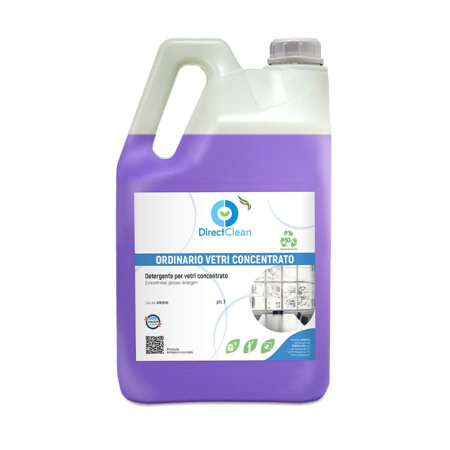 ORDINARIO VETRI CONCENTRATO Detergente CONCENTRATO per vetri e cristalli _ formato 5 litri