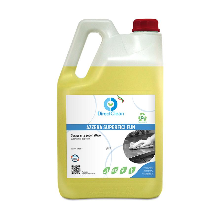 AZZERA SUPERFICI FUN_Detergente Universale Sgrassante Super Attivo_Tanica da 5 kg (Cartone da 4 pz.)