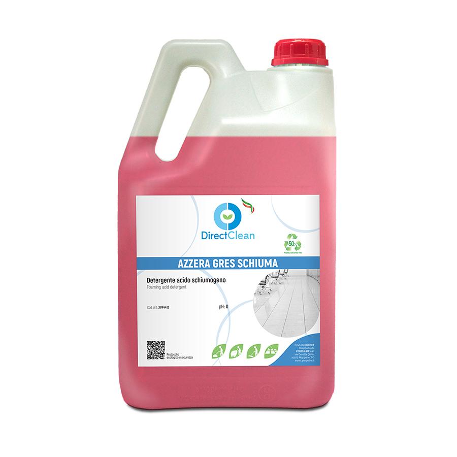 AZZERA GRES SCHIUMA Detergente acido ad ALTA SCHIUMA_Tanica 6 kg