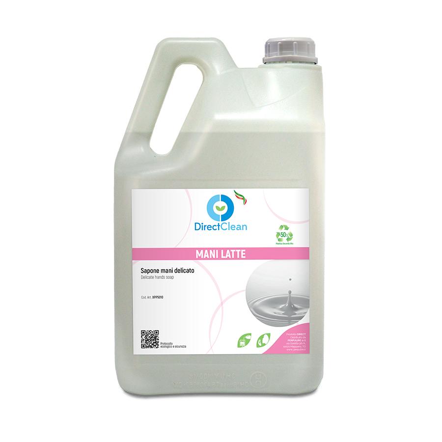 MANI LATTE Sapone liquido LAVAMANI DELICATO_Tanica 5 litri
