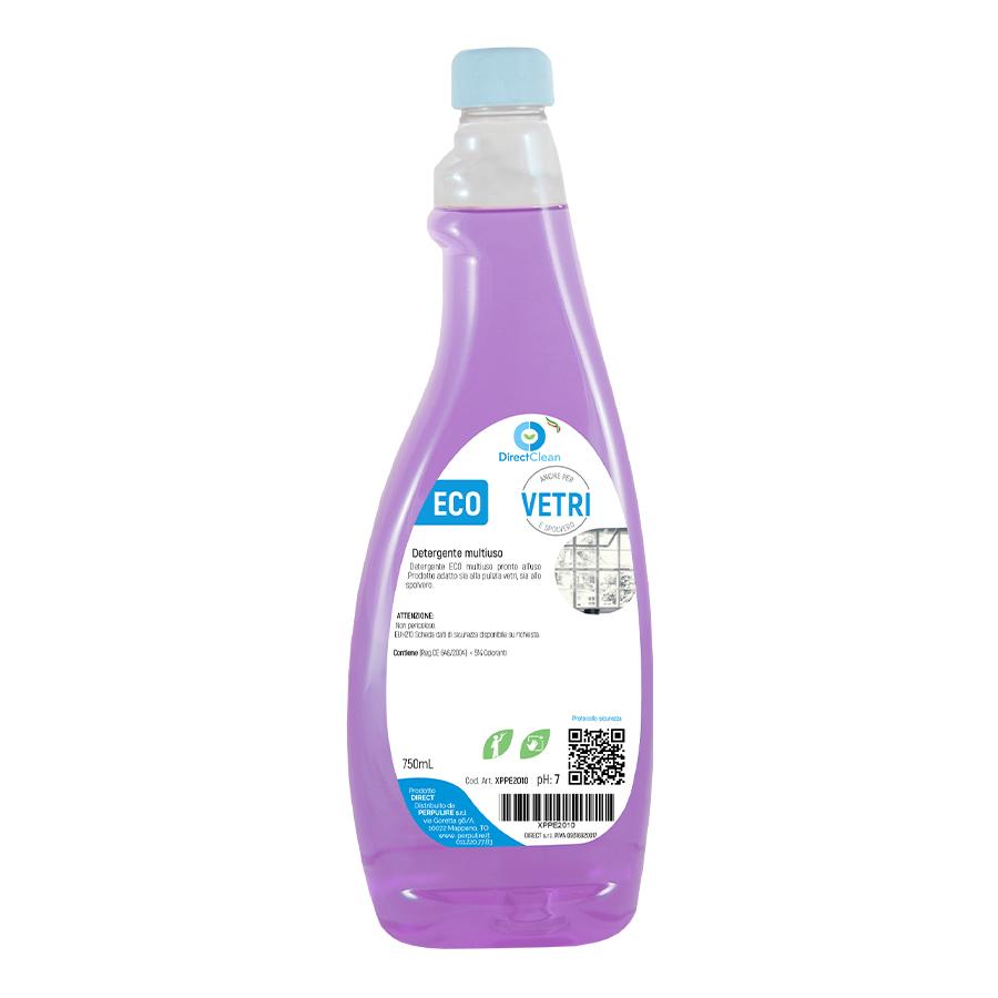 ECOVETRI Detergente per la pulizia dei vetri e lo spolvero_ Flacone 750 ml