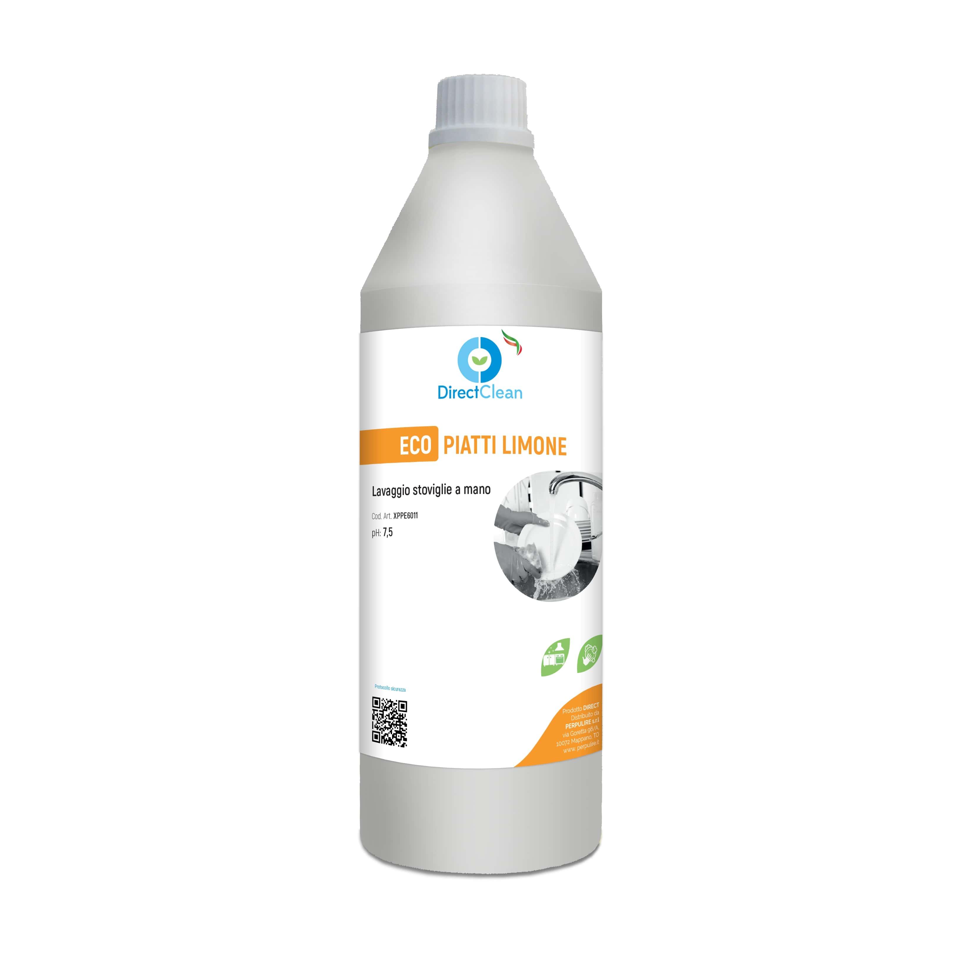 ECOPIATTI LIMONE Detersivo per stoviglie_Flacone 1kg (Cartone da 12 pz.)
